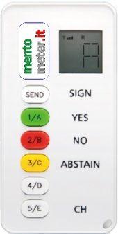 votazione elettronica modello EASY Lite mentometer